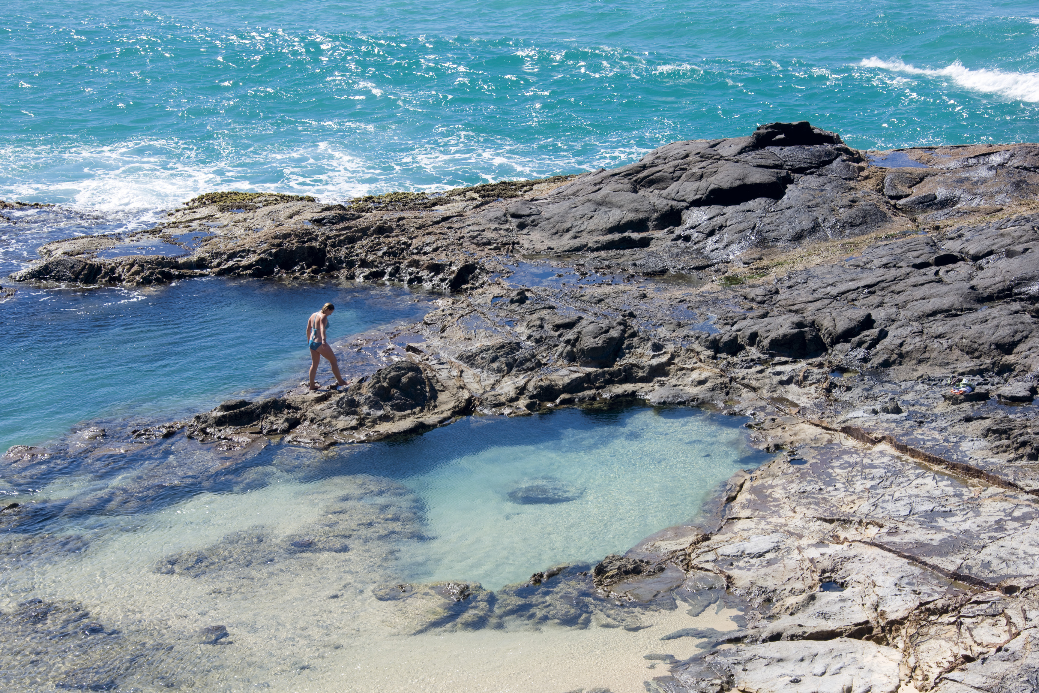 Champagne Pools Fraser Island Aboriginal