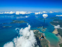 Spectacular views over the Whitsunday Islands