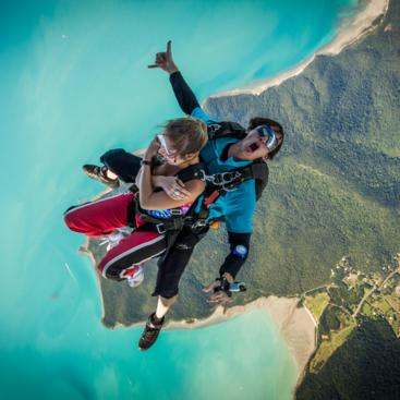 Tandem Skydiving over Airlie Beach, Whitsundays