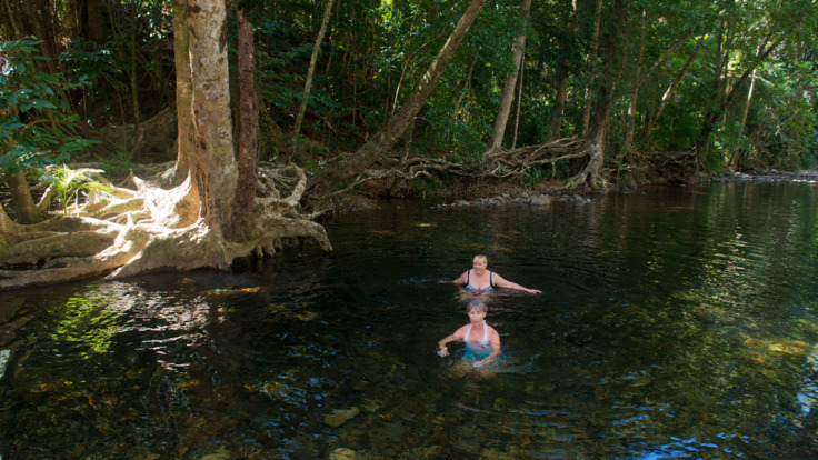 Swim in pristine water at Emmagen Creek