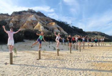 Adventurous beach holiday on Fraser Island