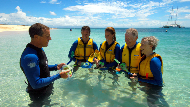 Experienced crew on hand to assist with snorkeling