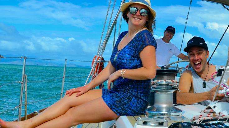 Relax on board with drinks, lunch and no crowds sailing Magnetic Island