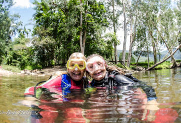 Try a freshwater scuba dive in the safe, clear waters