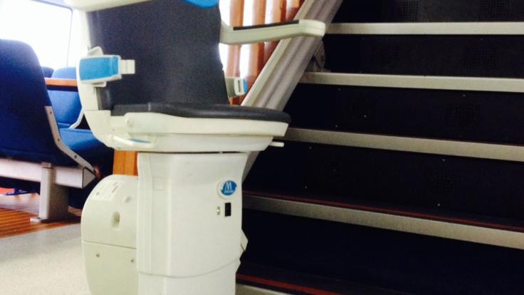 Stairlift on board the vessel for ease of access.