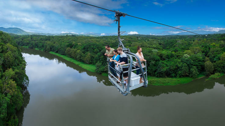 Views of the Barron river from the Canopy Glider