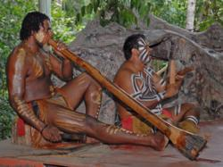 Didgeridoo playing in Kuranda