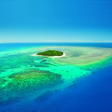 Aerial view Green island Great Barrier Reef Australia