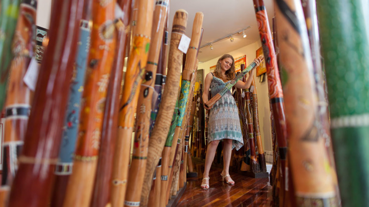 Local arts and crafts in Kuranda Village - the village in the Rainforest