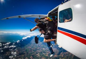 Exiting the Plane - Skydive on the Great Barrier Reef