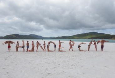 Have fun on Whitehaven Beach