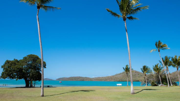 Beautiful views over the Whitsundays Airlie Beach Queensland Australia