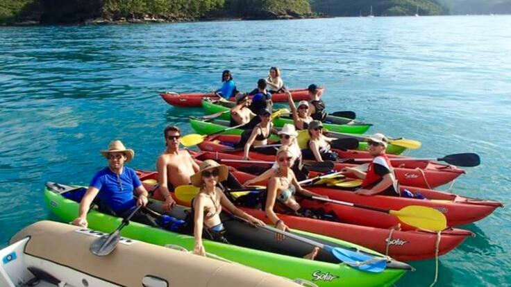 enjoy some sea kayaking on your Whitsundays sailing tour