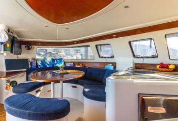 Interior of the Whitsundays liveaboard sailing boat