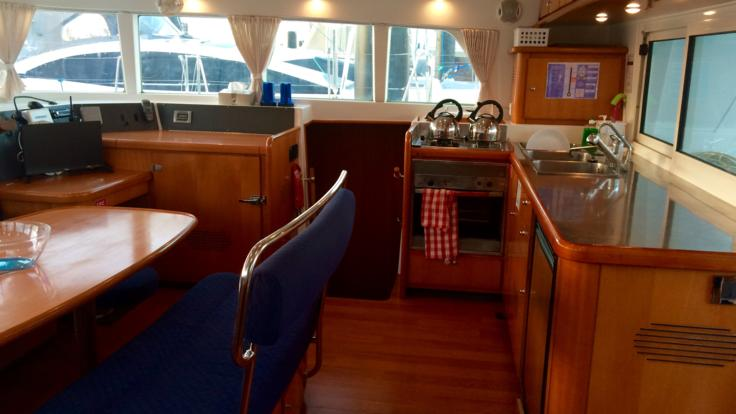 Galley of the Whitsundays liveaboard sailing boat