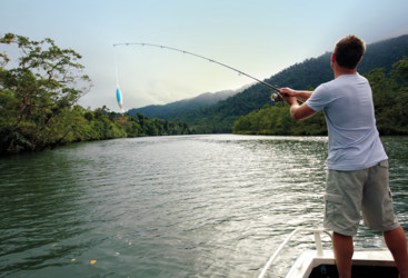 Fishing in the Russell River, TNQ