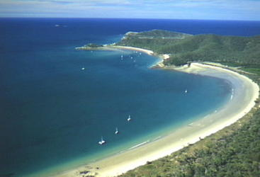 Aerial of Long Beach, Great Keppel Island