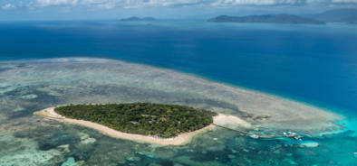 Aerial View of Green Island off Cairns on the Great Barrier Reef